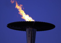 Thumb 231000   paralympic flame night sky view   3b   2000 sydney cauldron photo