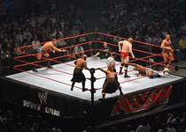 Thumb wwe triple threat tag title match in progress  rla melb 10.11.2007